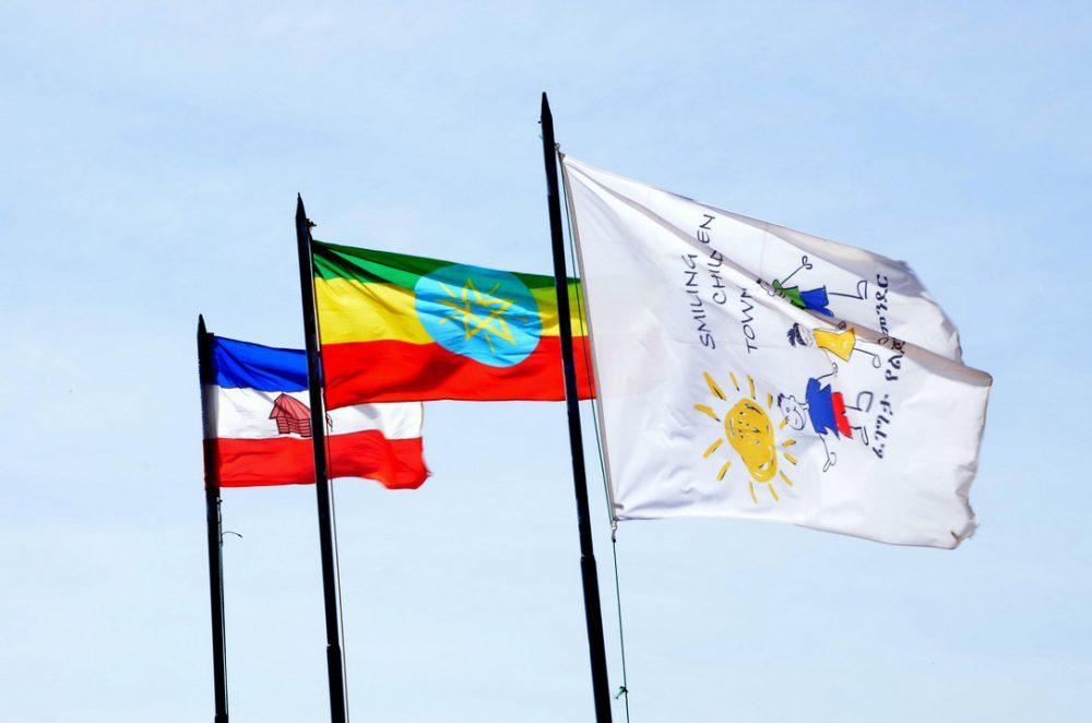 Bandiera dell'Etiopia e del Centro
